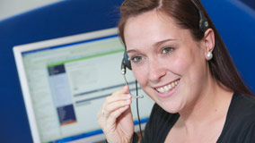 Customer Care advisor taking a phone call